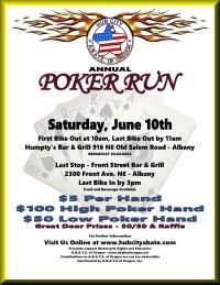 Hub City ABATE motorcycle poker run - Albany, Corvallis